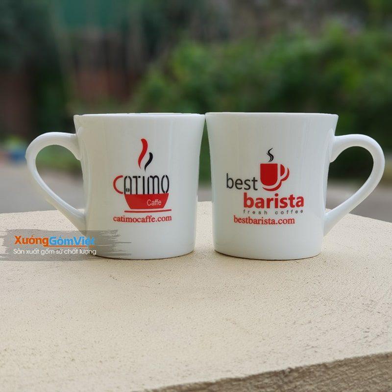 Ly sứ quà tặng khuyến mãi của Catimo Cafe