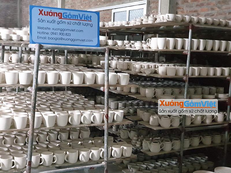 Xưởng sản xuất Ly sứ tại Bát Tràng