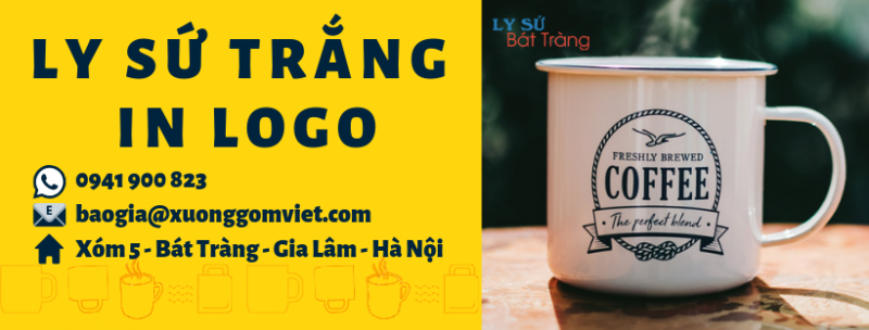 ly sứ trắng in logo