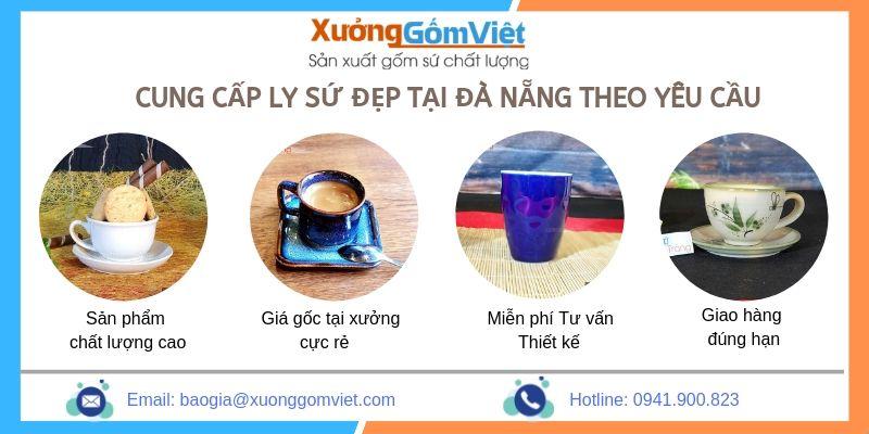 Cung cấp ly sứ đẹp số lượng lớn tại Đà Nẵng